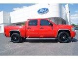 2010 Victory Red Chevrolet Silverado 1500 LT Crew Cab #78849863