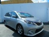 2012 Silver Sky Metallic Toyota Sienna SE #78852186