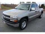 2002 Light Pewter Metallic Chevrolet Silverado 1500 LT Extended Cab 4x4 #78852104