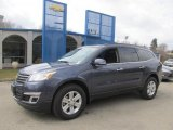 2013 Atlantis Blue Metallic Chevrolet Traverse LT AWD #78879892