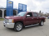 2013 Deep Ruby Metallic Chevrolet Silverado 1500 LT Crew Cab 4x4 #78879890