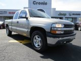 1999 Light Pewter Metallic Chevrolet Silverado 1500 LS Extended Cab 4x4 #78880085