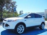 2013 White Platinum Metallic Tri-Coat Ford Escape Titanium 2.0L EcoBoost #78939657