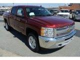 2013 Deep Ruby Metallic Chevrolet Silverado 1500 LT Crew Cab 4x4 #78940034