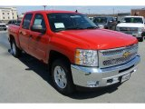 2013 Victory Red Chevrolet Silverado 1500 LT Crew Cab 4x4 #78940031