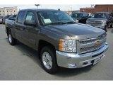 2013 Mocha Steel Metallic Chevrolet Silverado 1500 LT Crew Cab 4x4 #78940027