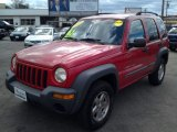 2002 Flame Red Jeep Liberty Sport #78939878