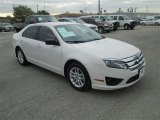 2010 White Suede Ford Fusion S #78996301