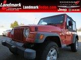 2006 Impact Orange Jeep Wrangler X 4x4 #78996437