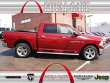 2011 Deep Cherry Red Crystal Pearl Dodge Ram 1500 Big Horn Crew Cab 4x4 #78996268