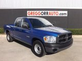 2008 Electric Blue Pearl Dodge Ram 1500 ST Quad Cab #78996707