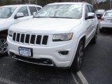 2014 Bright White Jeep Grand Cherokee Overland 4x4 #79058310
