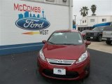 2013 Ruby Red Ford Fiesta SE Sedan #79058436