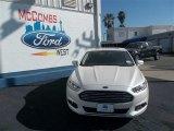 2013 White Platinum Metallic Tri-coat Ford Fusion SE 1.6 EcoBoost #79058431
