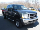 2004 Dark Green Satin Metallic Ford F250 Super Duty XLT SuperCab 4x4 #79151282