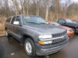 2001 Medium Charcoal Gray Metallic Chevrolet Silverado 1500 LS Extended Cab #79157841