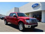 2013 Ruby Red Metallic Ford F150 Lariat SuperCrew 4x4 #79157830