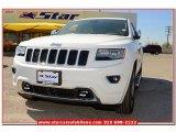 2014 Bright White Jeep Grand Cherokee Overland 4x4 #79158018