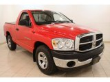 2007 Flame Red Dodge Ram 1500 ST Regular Cab #79158084