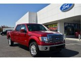 2013 Ruby Red Metallic Ford F150 Lariat SuperCrew 4x4 #79200218