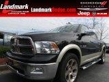 2010 Brilliant Black Crystal Pearl Dodge Ram 1500 Laramie Crew Cab #79200217