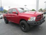 2010 Inferno Red Crystal Pearl Dodge Ram 1500 Sport Crew Cab 4x4 #79200045