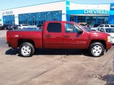 2009 Dark Cherry Red Metallic Chevrolet Silverado 1500 LT Z71 Crew Cab 4x4 #79200019