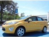 2013 Yellow Blaze Ford Fiesta Titanium Sedan #79200131