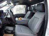 2013 Ford F350 Super Duty XL Regular Cab 4x4 Dump Truck Steel Interior