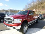 2007 Inferno Red Crystal Pearl Dodge Ram 3500 SLT Mega Cab 4x4 #79200427