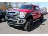 2012 Vermillion Red Ford F250 Super Duty Lariat Crew Cab 4x4 #79263850