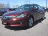 2011 Basque Red Pearl Honda Accord EX-L V6 Sedan #79263436