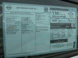 2013 Nissan LEAF SV Window Sticker