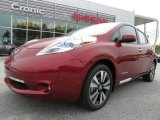 2013 Cayenne Red Nissan LEAF SL #79263557