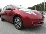 Cayenne Red Nissan LEAF in 2013