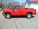 2005 Victory Red Chevrolet Silverado 1500 LS Regular Cab 4x4 #79263913