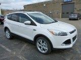 2013 White Platinum Metallic Tri-Coat Ford Escape Titanium 2.0L EcoBoost 4WD #79263398