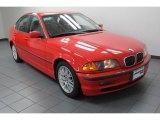 2000 Bright Red BMW 3 Series 328i Sedan #79263633