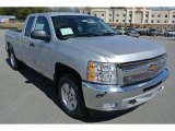 2013 Silver Ice Metallic Chevrolet Silverado 1500 LT Extended Cab 4x4 #79263775
