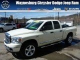 2008 Cool Vanilla White Dodge Ram 1500 Big Horn Edition Quad Cab 4x4 #79320323