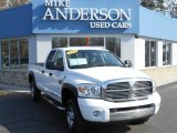 2007 Bright White Dodge Ram 3500 Laramie Quad Cab 4x4 #79320775