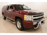 2008 Deep Ruby Metallic Chevrolet Silverado 1500 LT Extended Cab 4x4 #79320551