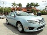 2010 Light Ice Blue Metallic Ford Fusion Hybrid #79371467