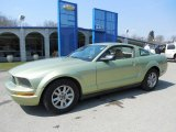 2005 Legend Lime Metallic Ford Mustang V6 Deluxe Coupe #79371461