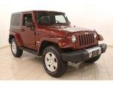 2010 Red Rock Crystal Pearl Jeep Wrangler Sahara 4x4 #79371858