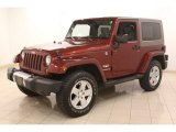 2010 Jeep Wrangler Red Rock Crystal Pearl