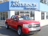 2008 Victory Red Chevrolet Silverado 1500 LS Extended Cab 4x4 #79372102