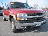 2001 Sunset Orange Metallic Chevrolet Silverado 1500 LS Extended Cab 4x4 #79371842