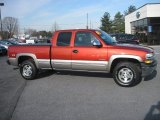 Sunset Orange Metallic Chevrolet Silverado 1500 in 2001