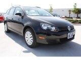 2013 Deep Black Pearl Metallic Volkswagen Jetta S SportWagen #79371971